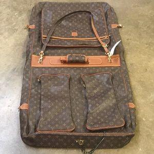 Authentic vintage Louis Vuitton garment bag
